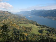 View upriver from the Cape Horn Summit. Photo by R. Ojerio.