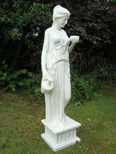 Hebe Statue Garden Sculpture Ornament Art. Buy now at http://www.statuesandsculptures.co.uk/garden-sculptures-ornament-art-hebe-statue