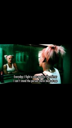 P!nk I. Fight with. The woman in the mirror. ;-$
