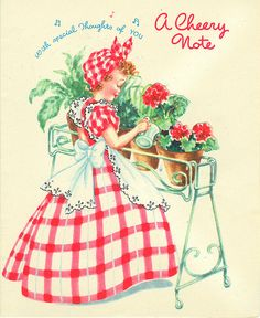 vintage cards had such sweet illustrations.