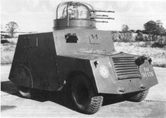 Beaverette Mk III - Car Armoured Light Standard - with four Browning MG in Boulton-Paul type A turret, WW II Army Vehicles, Armored Vehicles, Armored Car, Military Armor, Military Aircraft, Bedford Truck, Tank Armor, Armored Fighting Vehicle, Fire Powers