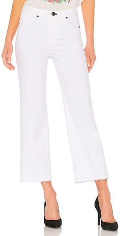 Shop for rag & bone/JEAN Justine Wide Leg Ankle Jean in White at REVOLVE. Stylish Outfits, Cool Outfits, Fashion Outfits, Womens Fashion, Ankle Jeans, Cropped Jeans, Flare Jeans, Wide Leg, Capri Pants