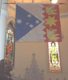 Heraldic banner of Sir Robert Menzies, KT, formerly in Thistle chapel, St Giles, Edinburgh.  Now in Scots Church, Melbourne