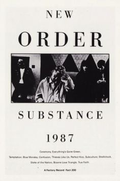 Substance, New Order