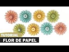 Como fazer flor de papel roseta | DIY | Tutorial - YouTube