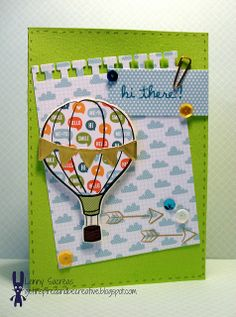 Lawn Fawn - Blue Skies stamps and coordinating dies, Into the Woods 6x6 paper and mixed sequins, Sophie's Sentiments _ loving this bright and cheery card by Lenny! Lawnscaping chall #77 Bling it | Flickr - Photo Sharing!