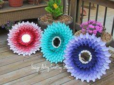Blumen aus Plastiklöffeln.  Unbedingt machen!!!