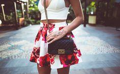 : #Kenzas #Model #Style #Fashion #Look #Beautiful #Stylish #Skirt #Chanelboybag #shoes #handpiece #sunglasses  ❤