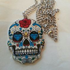 Cute skeleton necklace w pendant Metal... pendant made of acrylic . Brand new Jewelry Necklaces