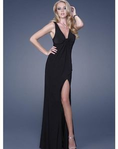 Sheath / Column V-neck Ruffles Sleeveless Floor-length Chiffon Prom Dresses / Evening Dresses (SZ0252358)