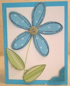 Got the Blues... by kittyglitter - Cards and Paper Crafts at Splitcoaststampers Old Stamps, Handmade Card Making, Get Well Cards, Happy Birthday Cards, Kids Cards, Flower Cards, Veronica, Homemade Cards, Thank You Cards