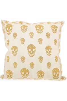 Alexander McQueen skull tapestry cushion. Would go nicely with my sofa.