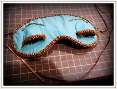 DIY or purchase link for a Holly Golightly (Breakfast at Tiffany's) sleep mask