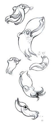 Cuddle fish?                                                                                                                                                                                 Plus