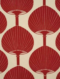 Kabuki from Florence Broadhurst via Signature Prints #fabric #cotton red