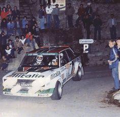 Fiat 131 Abarth Rally San Remo 1979 W. Rohrl - C. Sports Car Racing, Road Racing, Sport Cars, Fiat Abarth, Lada Drift, Rally Raid, Classic Sports Cars, Car And Driver, Vintage Racing