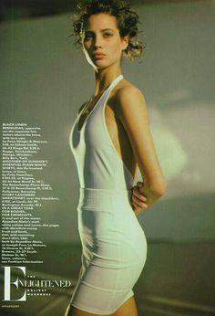 Christy Turlington by Arthur Elgort - UK Vogue 1986.