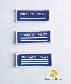 A rush service school recognition pilot theme cloth badge for students to 'earn their stripes' from one to three, wide with overlock sewing borde Badge, Pilot, Patches, Students, Stripes, Sewing, School, Clothes, Outfits