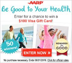 Rewards for Good from AARP lets you earn points for free and redeem them for over 200,000 rewards including gift cards, special auctions, sweepstakes entries and name-brand merchandise.