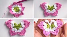 Borboleta Crochet Tutorial - tutorial de croche