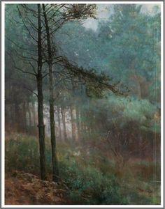 Benjamin Haughton (1865-1924), Study of Fir Woods.