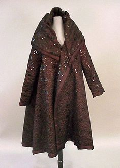 Sparkly brown silk evening coat, designed by the wonderful Romeo Gigli for Callaghan.....