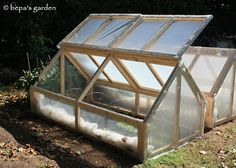 """""""Mini-greenhouse are practical, inexpensive and are perfect for those who don't have the room for a greenhouse. They are easy to build, portable and have many uses throughout the year."""" http://bepasgarden.blogspot.com/search/label/Mini-greenhouse"""