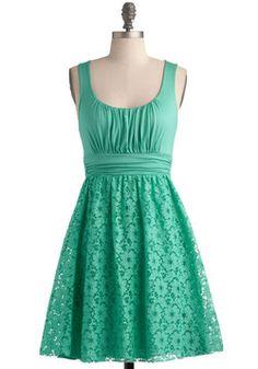 be8b3a202f BRIDESMAID IDEA Artisan Iced Tea Dress in Spearmint. This sleeveless