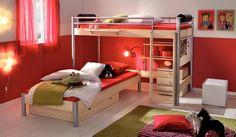 Kinder-Bett HASENA Space Concept Midi Eck-Etagenbett Bettgestell, Doppelstockbett - So ist das Platzproblem im Kinderzimmer gelöst