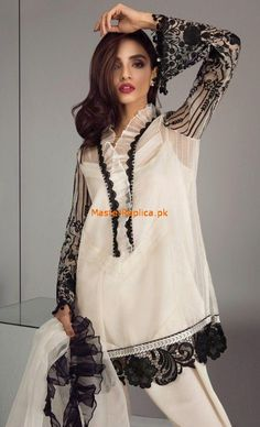 Pakistan's best Replica Wholesale and retail supplier of all Top Designer copies in best quality and prices. Get maria B, Asim Jofa, zainab chottani and other top designer Replicas Beautiful Pakistani Dresses, Pakistani Formal Dresses, Pakistani Dresses Online, Pakistani Fashion Casual, Pakistani Dress Design, Pakistani Outfits, Fancy Dress Design, Stylish Dress Designs, Designs For Dresses
