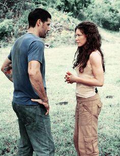 Matthew Fox and Evangeline Lilly as Jack & Kate in Lost Series Movies, Tv Series, Serie Lost, Robin Hood Bbc, Lost Tv Show, Josh Holloway, Tv Show Couples, Matthew Fox, Elizabeth Mitchell