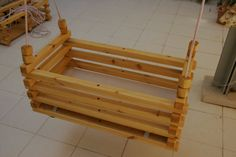 This listing gets you plans for this easy to make Hanging Crib Bassinet or Double swing. Swinging soothes baby, tried and true. The hanging crib is Hanging Bassinet, Hanging Cradle, Hanging Crib, Diy Hanging, Baby Crib Diy, Baby Bassinet, Baby Cribs, Baby Cradle Plans, Wooden Baby Swing