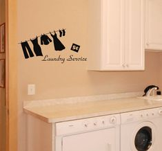 Laundry Service wall decal laundry room removable by AriseDecals