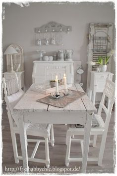 24 Homes: Frau K - een duitse Shabby Chic blog