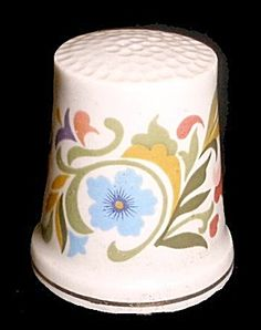 This pretty little thimble would look great with my others