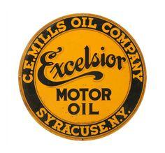 Original Excelsior Motor Oil Tin Sign