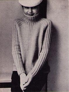 UK funnel neck Vogue Knitting 1965