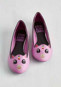 These darling unicorn ballet flats: