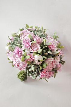 Bouquet da sposa con succulente del mazzo del di LoveClayFlowers