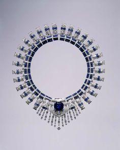 Marjorie Merriweather Post's Cartierdiamond and sapphire necklace.Photo: Hillwood Estate, Museum & Gardens