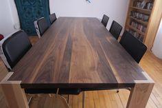 1000 images about bois bureau on pinterest butcher block countertops butc - Relooker table merisier ...