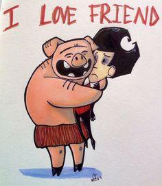 I LOVE FRIEND by MistyPancakez on deviantART