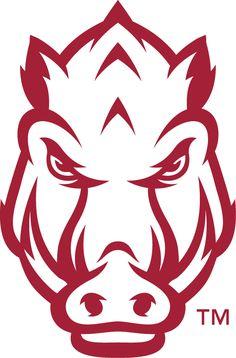 Arkansas Razorbacks Secondary Logo (2014) -