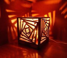 cardboard lamp tutorial