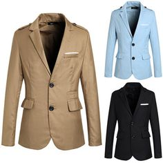 Two Buttons Men Fashion Blazer Jacket Mens Fashion Blazer, Men Fashion, Blazers For Men, Blazer Jacket, Buttons, Suits, Jackets, Collection, Moda Masculina
