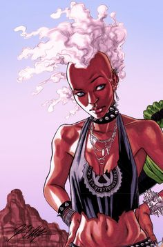 Illustrator Ron Ackins: twisting reality into charismatic Black Power cartoons - AFROPUNK Black Anime Characters, Comic Book Characters, Marvel Characters, Comic Books Art, Comic Art, Storm Xmen, Storm Marvel, Marvel X, Marvel Girls