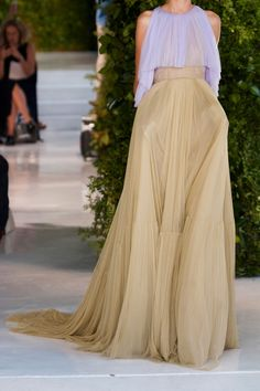 DELPOZO Pleated silk-blend tulle gown