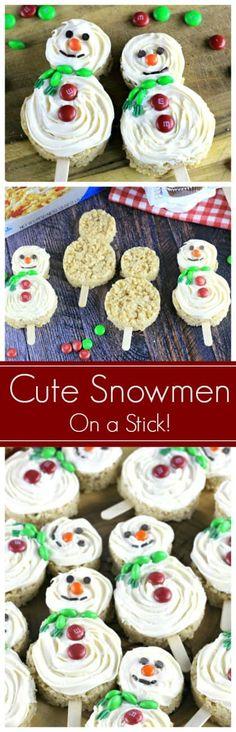 Cute Snowmen On A Stick Treats