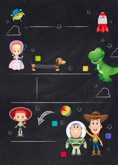 Shop Toy Story Chalkboard Birthday Invitation created by ToyStory. Fête Toy Story, Toy Story Baby, Toy Story Theme, Toy Story Birthday, 3rd Birthday, Cowboy Birthday, Frozen Birthday, Toy Story Invitations, Birthday Invitations