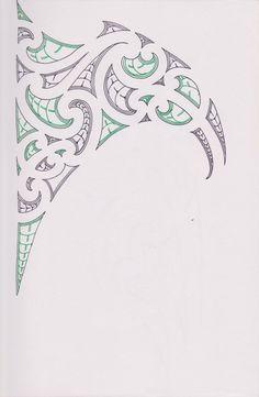 Maori/Samoan Ta Moko Concept by bloodempire on DeviantArt Ta Moko Tattoo, Wave Stencil, Maori Symbols, Polynesian Tribal Tattoos, Maori Patterns, Shoulder Tats, Maori Tattoo Designs, Maori Art, Card Tattoo